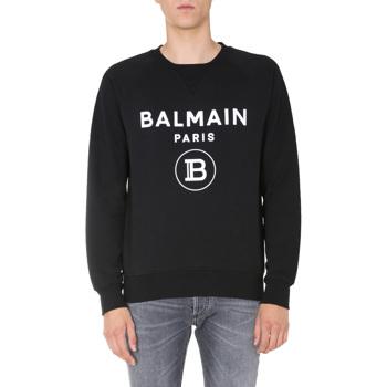 Balmain Crew Neck Sweatshirt Culoarea BLACK
