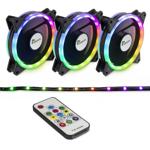 Ventilator Inter-Tech Argus RS-04 RGB, 120mm, Kit Fans + RGB LED Strip