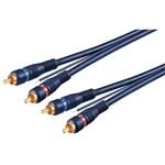 Cablu audio 2x RCA tata - 2x RCA tata albastru 5m