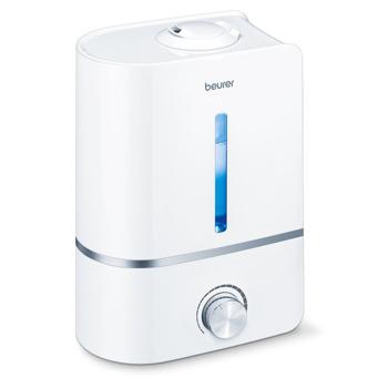 Umidificator Beurer, 25 W, 4 l, 300 ml/h, LED, panou mecanic, Alb