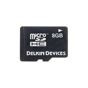 Delkin MicroSDHC 8GB - card de memorie + adaptor