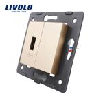 Priza USB Livolo Auriu c7-1usb-13