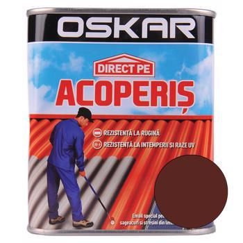 Vopsea Oskar Direct pe acoperis, maro ciocolatiu, exterior, 0,75 l