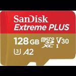 Card de memorie Sandisk Extreme Plus 128GB Clasa 10 UHS-I U3 + Adaptor