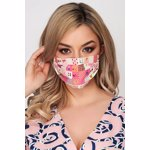 Set 5 bucati masca de protectie pentru adulti StarShinerS roz din poplin