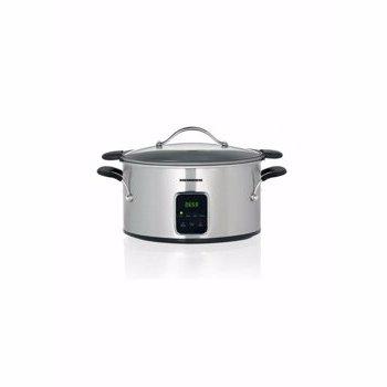 Slow cooker Heinner HSCK-T6IX, capacitate 6L, vas detasabil, vas din aluminiu cu invelis din teflon,