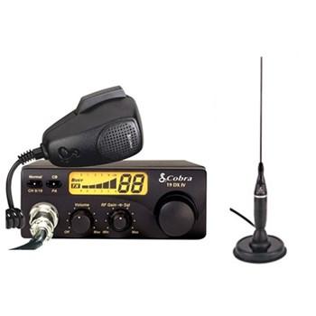 Kit statie radio auto CB Cobra 19DXIVEU si Antena Cobra HGA1500