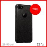 Husa Capac spate Shine Negru Apple iPhone 7, iPhone 8