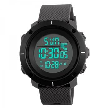 Ceas de barbati Skmei 1213 Digital cronograf cu alarma si lumina de fundal, gri