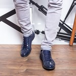 Pantofi barbati Longg albastru lac casual