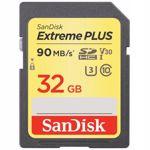 Card de memorie SanDisk Extreme PLUS SDSDXWF-032G-GNCIN, SDHC, 32GB, UHS-I, U3, Clasa 10