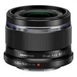 Obiectiv Olympus M.ZUIKO DIGITAL 25mm f/1.8 Black montura Micro Four Thirds