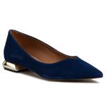 Pantofi R.POLAŃSKI - 1006 Niebieski Jeans Zamsz