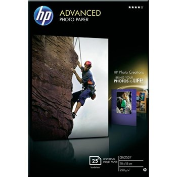 HP Q8691A PAPER Advanced Glossy Photo; 10 x 15 cm borderless; 25 sheet; Greutate/m2 250 Q8691A