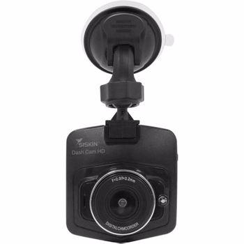 """Camera auto Siskin Dash Cam, 720p HD, LCD 2.5"""", Unghiul de vizualizare 120° + Card 16GB (Negru)"""