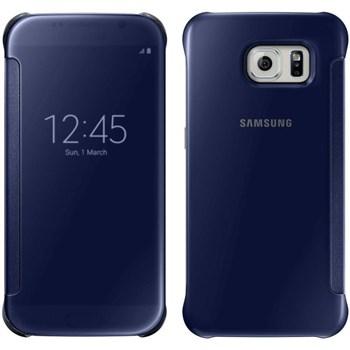 Husa View Cover Samsung pentru Galaxy S6, Negru