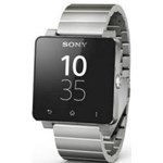 Ceas Sony SmartWatch 2, Curea metalica, Argintiu