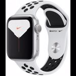 Apple Watch Nike+ Series 5 GPS, 44mm, Silver, Aluminium Case, Platinum/Black Nike Sport Band