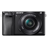 Sony ILCE6000YB, 24.3MP, Black + Obiectiv 16-50mm + Obiectiv SEL 55-210mm