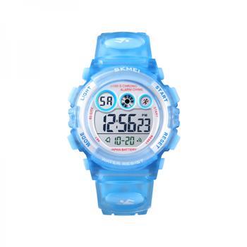 Ceas de copii sport SKMEI 1451 waterproof 5ATM cu cronometrualarma data si iluminare ecra albastru