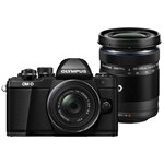 Aparat foto Mirrorless Olympus E-M10 Mark II Negru Kit EZ-M1442EZ + EZ-M4015 R v207053be000
