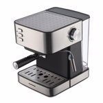 Espressor Heinner HEM-B2016BKS, 850W, 20 bar, rezervor apa detasabil 1.6l, filtru din inox, plita mentinere cafea calda, decoratii inox
