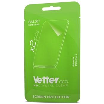 Folie de protectie Vetter Eco pentru iPhone 5s, 5, Full Set 2 buc