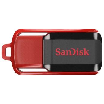 Memorie USB Sandisk, 16 GB, USB 2.0, Rosu/Negru