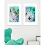 Tablou 2 piese Framed Art Space Abstract I & II