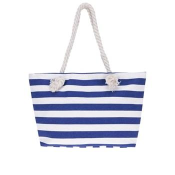 Geanta shopper albastru & alb Haily's Stripey cu model in dungi