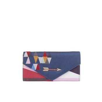 Portofel multicolor cu model geometric Disaster Dakota