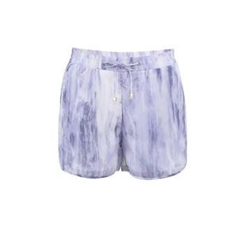 VERO MODA Pantaloni Scurti Texturati - Alb si Violet