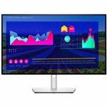 Monitor UltraSharp Dell LED 27'' QHD, 60Hz, 5ms, 100% sRGB, 95% DCI-P3, 100% Rec 709, Display Port, Display Port out, HDMI, USB-C, USB, Pivot, U2722D
