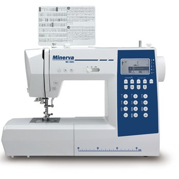 Masina de cusut digitala Minerva MC350C 310 programe 800 RPM Alba