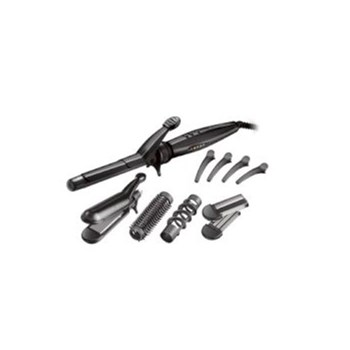 Ondulator Remington S8670, 5 accesorii, Invelis ceramic si turmalina, Negru