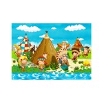 Puzzle Bluebird - Small Indian Tribe, 48 piese (70361)