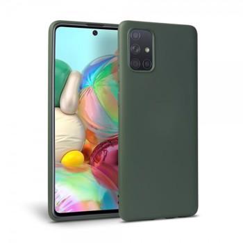 Husa Silicon Soft Upzz Samsung Galaxy A51 Interior Alcantara Verde