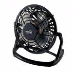 Mini ventilator de birou alimentare USB 2.5W 10 cm palete ABS negru Home tf10usb