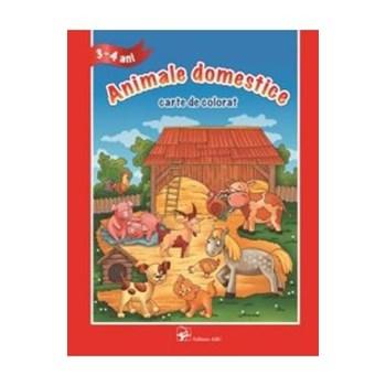 3-4 Ani - Animale domestice - Carte de colorat