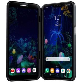 Smartphone LG V50 ThinQ Dual Screen, Ecran OLED 2K, Snapdragon 855, Quad Core 2.84 GHz, 128GB, 6GB RAM, Single SIM, 5G, NFC, 5-Camere: 16 mpx + 12 mpx + 12 mpx + 8 mpx + 5 mpx, Quick Charge 3.0, Aurora Black