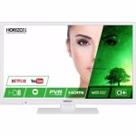 "LED TV HORIZON 24HL7131H, 24"" LED / HD / Smart TV (WiFi built-in) + DTS / 100Hz (CME) / USB Player (mpeg4, mkv) / VeryNarrow (12mm) / Rectangular Stand / White, 61 cm"