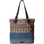 Sakroots Artist Circle Soft Tote Culoarea Taupe One World