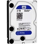 """Hard Disk desktop WESTERN DIGITAL Blue 2TB, 3.5"""", SATA3, 5400rpm, 64MB, WD20EZRZ"""