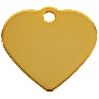 Medalion Imarc Aluminiu Inima, Auriu, Masura S - Gravare Gratuita