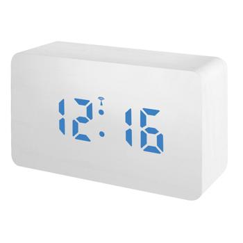 Statie meteo Bresser MyTime W RC, termometru, alarma, LED albastru, Alb