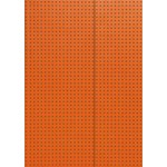 Paper-Oh Circulo Orange on Grey A7 Lined Notebook