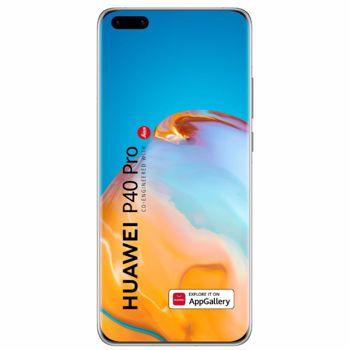 "Telefon Mobil Huawei P40 Pro, Procesor Octa-Core Hisilicon Kirin 990, OLED Capacitive touchscreen 6.58"", 8GB RAM, 256GB Flash, Camera Quad 50+40+12+TOF 3D MP, Wi-Fi, 5G, Dual SIM, Android (Alb)"
