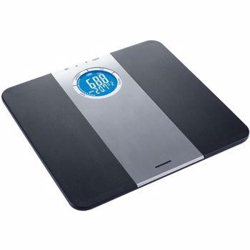Cantar corporal de diagnostic Heinner HDS-150BKSL 150kg Memorie 8 persoane LCD Gradare 50g Platforma de plastic Black hds-150bksl