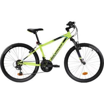 """Bicicletă MTB Rockrider ST 500 24"""" Galben Fluo Copii 9-12 ani BTWIN"""
