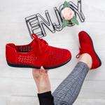 Pantofi perforati dama rosii Felira-rl
